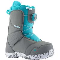 Burton Zipline Boa Snowboard Boot - Youth - Gray / Surf Blue