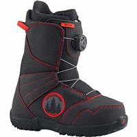 Black / Red Burton Zipline Boa Snowboard Boots Youth