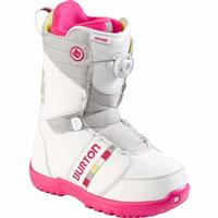 White / Gray Burton Zipline Boa Snowboard Boots Youth
