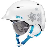 White Snowflake Bern Camina Helmet Girls