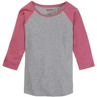 Burton Caratunk Raglan - Women's - Gray Heather / Rosebud