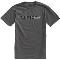 Charcoal Burton Logo Horizontal SS Tee Mens