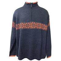 Charcoal/Harvest Alpaca Marco Pullover Sweater Mens