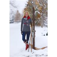 Charcoal / Ivory / Red Krimson Klover Slope Style 1/4 Zip Womens