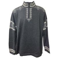 Charcoal/Light Grey/White Alpaca Tromso Pullover Sweater Mens