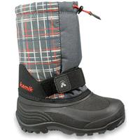 Charcoal Plaid Kamik Rocket 2 Boots Preschool
