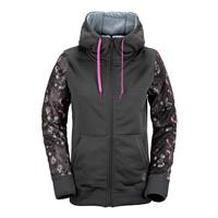 Charcoal Volcom Lovage Fleece Womens front