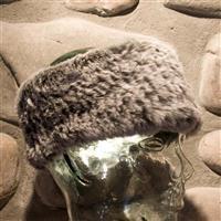 Chinchilla Mitchies Matchings Rabbit Fur Headband Womens