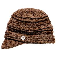 Chocolate Screamer Danica Billed Beanie Womens