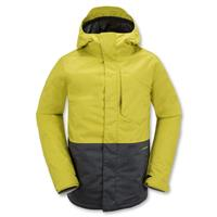 Citronelle Green Volcom Retrospec Insulated Jacket Mens front