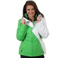 Classic Green / White Spyder Power Jacket Womens