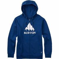 True Blue Burton Classic Mountain Full Zip Hoodie Mens