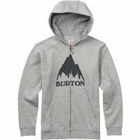 Gray Heather Burton Classic Mountain Full Zip Hoodie Mens