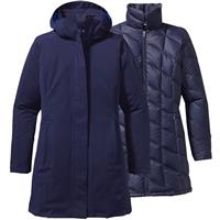 Classic Navy with Viking Blue Patagonia Tres Parka Womens