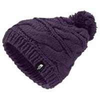 Eggplant Purple The North Face Triple Cable Pom Beanie Womens
