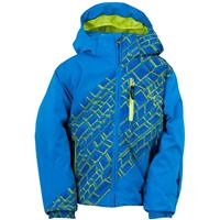 Collegiate / Collegiate Mosaic Print / Sharp Lime Spyder Mini Enforcer Jacket Boys