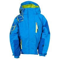 Collegiate / Just Blue / Sharp Lime Spyder Mini Challenger Jacket Boys