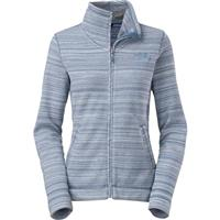 Cool Blue Stria Print The North Face Crescent Sunset Full Zip Fleece Womens