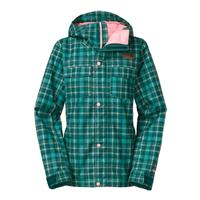 Deep Teal Downtown Plaid The North Face Ricas Insulated Jacket Womens