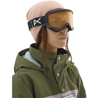 Anon Deringer Goggle - Women's - Topo Black Frame with Sonar Night & Amber Lenses (185431-080)