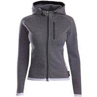 Descente Lauren Zip Hoodie - Women's - Gray / Super White
