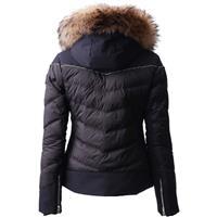 Black Descente Niya Fur Jacket Womens