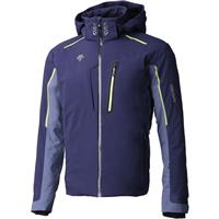Descente Terro Men's Jacket - Dark Night / Midnight Shadow / Lime