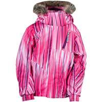 Diva Pink Speedlines Print Spyder Bitsy Lola Jacket Girls