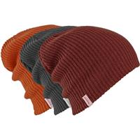 Faded / Firebrick / Clay Burton DND 3 Pack Beanie Mens