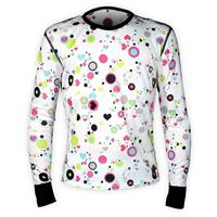 Dots & Hearts Hot Chillys Mid Weight Print Crew Neck Youth