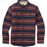 Dress Blues Kingdom Stripe Burton Cole Sherpa Woven Shirt Mens
