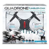 Black Quadrone Tumbler Cam Drone with built in Camera