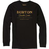 True Black Burton Durable Goods Long Sleeve T Shirt Mens