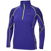 Electric Blue / Midnight Purple Marmot ThermalClime Pro 1/2 Zip Womens
