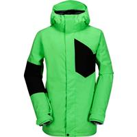 Electric Green Volcom Stone Block Jacket Mens