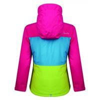 Electric Pink Color Block Dare 2b Snowdrift Jacket Girls