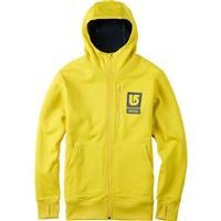 Empire Yellow Burton Bonded Full Zip Hoodie Mens