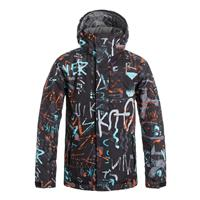 Hieline Blue Quiksilver Mission Printed Jacket Boys