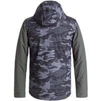 Black Grey Camokazi (KVJ9) Quiksilver Ridge Jacket Boys