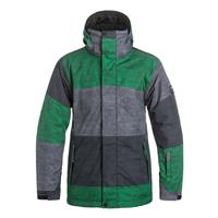 Str Jly Green Quiksilver Mission Printed Jacket Mens