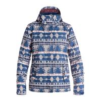 Akiya Print Blue Roxy Jetty Jacket Womens