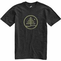 True Black Heather (17) Burton Family Tree Recycled Slim Fit T Shirt Mens