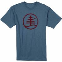 Blue Mirage Heather Burton Family Tree Recycled Slim Fit T Shirt Mens