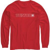 Fiery Red Burton Logo Horizontal LS Shirt Mens