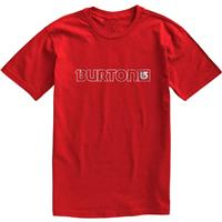 Fiery Red Burton Logo Horizontal SS Tee Mens
