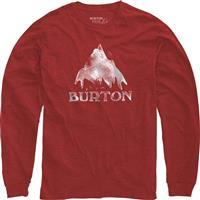 Fiery Red Heather Burton Stamped Mountain LS Shirt Mens