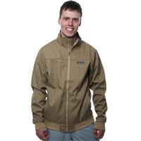 Fine Stripe: Camel Patagonia Kernelius Jacket Mens