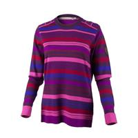 Vivacious Pink Obermeyer Fiona Stripe Knit Crew Womens