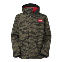 Forest Camo Print The North Face Turn It Up Jacket Mens