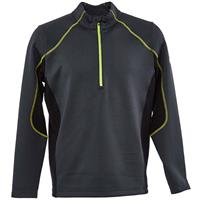 Spyder Halcyon Zip T Neck - Men's - Ebony